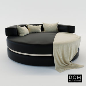 3d model Round chaise Longue Loveseat – Design by Andrea Fogli (Dom Edizioni)