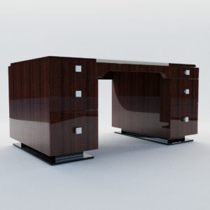 3d model Writing desk – Art Deco style