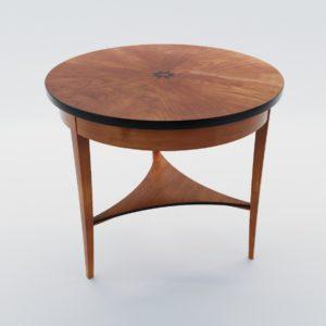 3d model Biedermeier salon table – Germany, Munich 1820