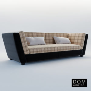 3d model Sofa Marcel – Design by Domenico Mula (Dom Edizioni)