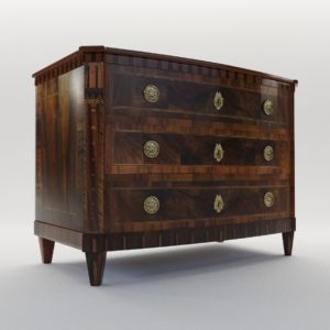 3d model Classicist commode – Dresden, Germany around 1800