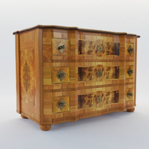 3d model Baroque commode – Germany, 18. century