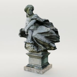 3d model Baroque garden sculpture with horn of abundance – Austria, 18. century