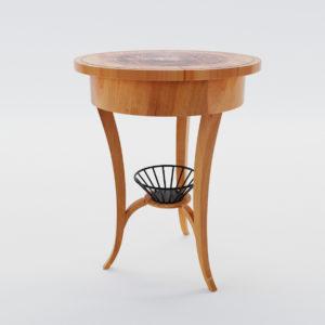 3d model Biedermeier sewing table – Germany around 1825