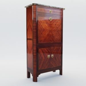 3d model Louis XVI secretaire – France, 18. century