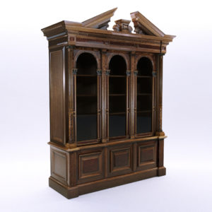 3d model Historicism bookcase – South Germany 1880
