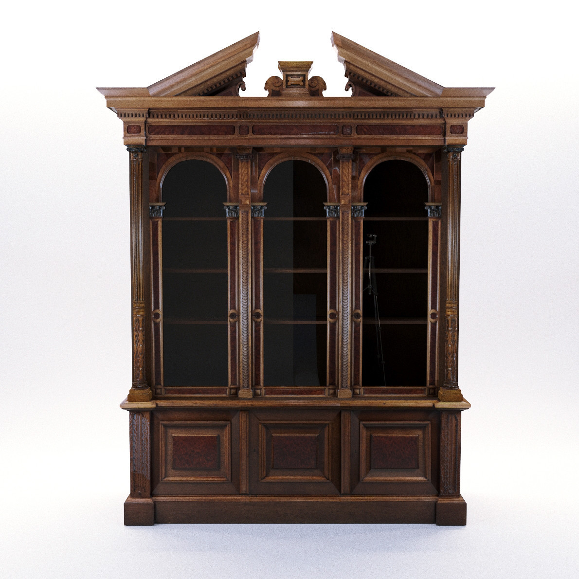 Historicism Bookcase Georg Britsch 3d Realistic Model