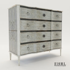 3d model Swedish chest of drawers – Newly painted on softwood