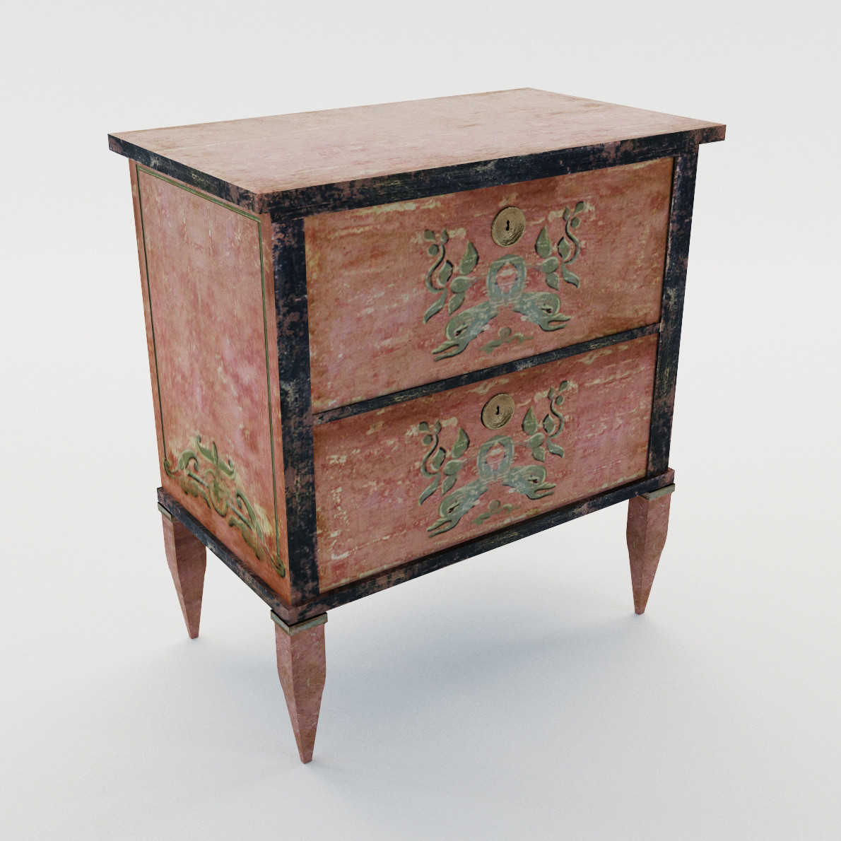 Small Commode In Classicistic Style 3d Realistic Model