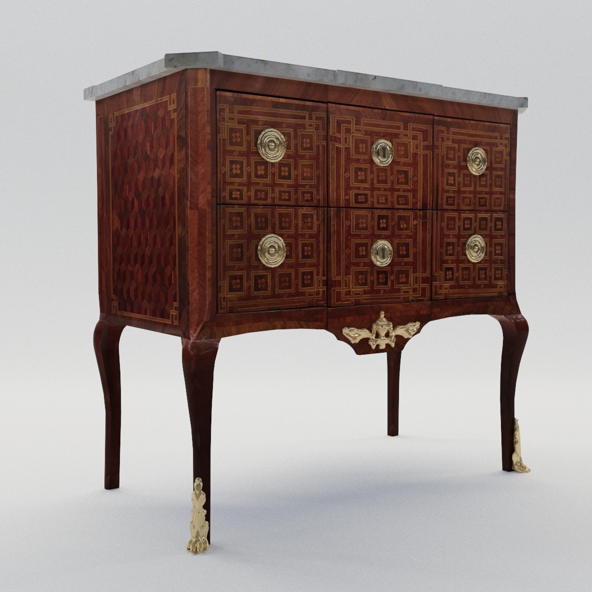 3d model Transition commode – France, late 18. century