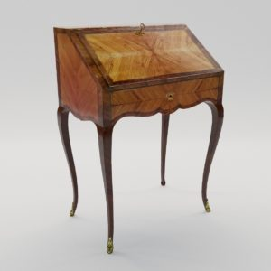 3d model Small lady secretaire of Louis XVI – France, 18. century