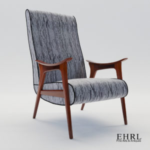 3d model Scandinavian armchair – 1960