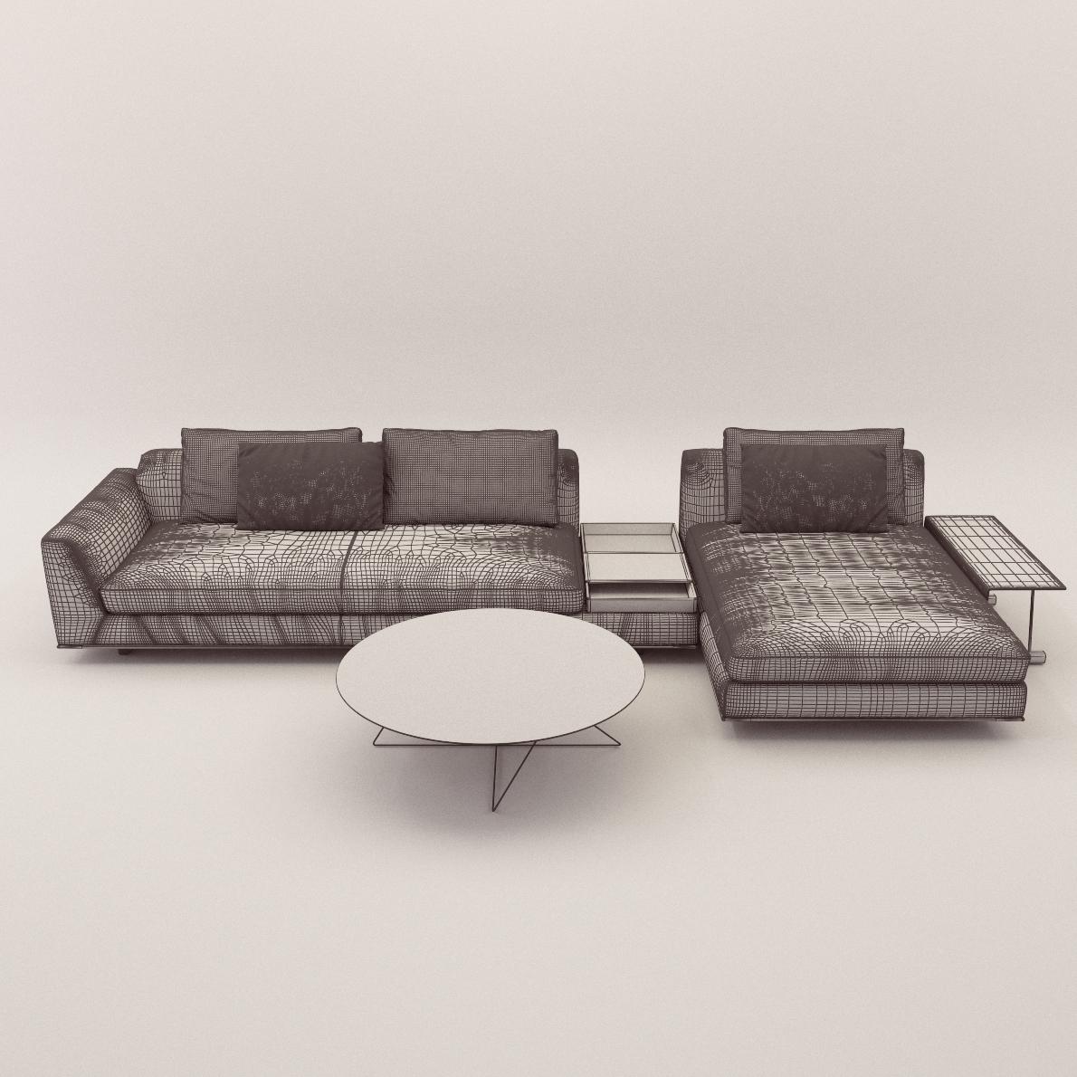 Sofa Tama Living Version C 3d Realistic Model Artium3d