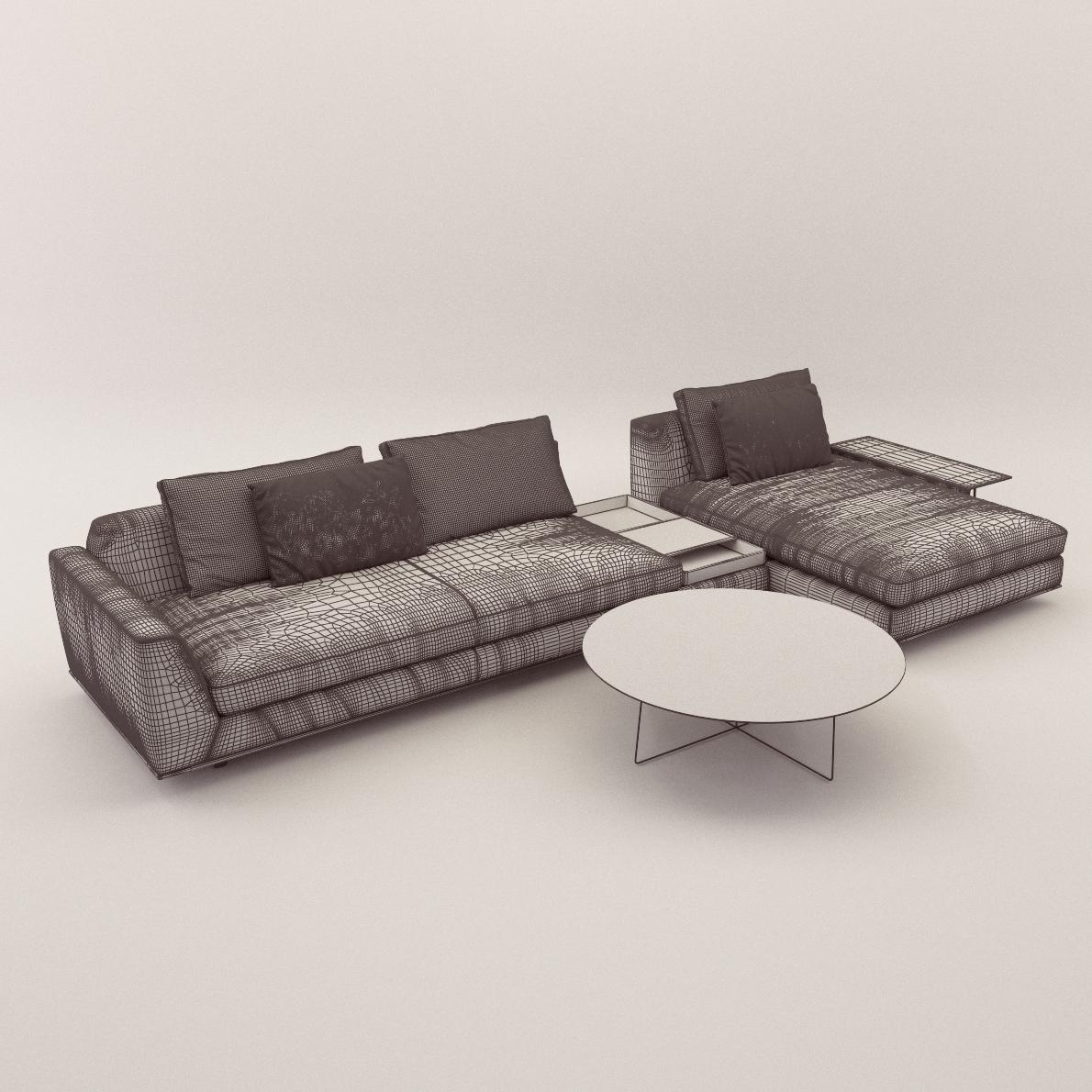 Sofa tama living version c 3d realistic model artium3d for Divan furniture models