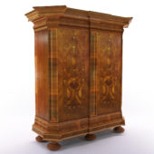 3d model Baroque cupboard – South Germany, 18. century
