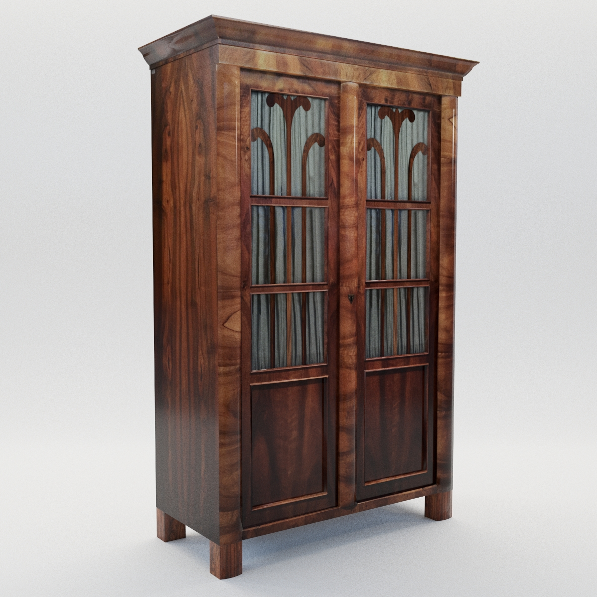 3d model Biedermeier book case – Austria 1830