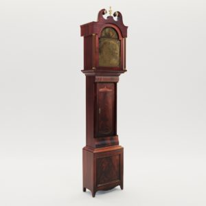 3d model Long case clock – England, late 18. century