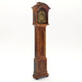 3d model Baroque long case clock – England, London