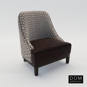 3d model Small armchair Dackys – Design by Domenico Mula (Dom Edizioni)