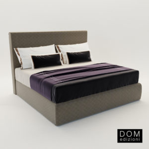 3d model Bed Coco – Design by Domenico Mula (Dom Edizioni)