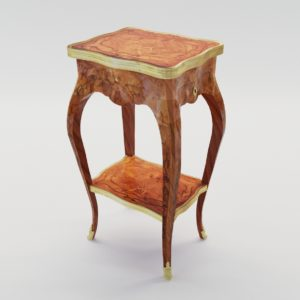 3d model Fine Louis XI table á écrire – France, Paris 1760