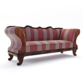 3d model Biedermeier sofa – Austria 1840