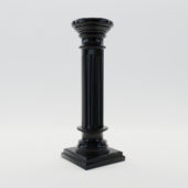 3d model Neoclassical style column about 1900