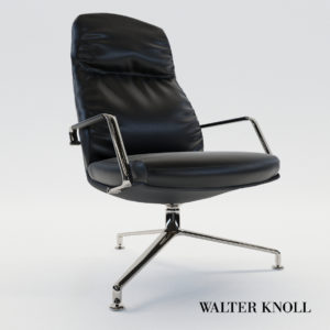 3d model Armchair FK – Walter Knoll, Design by Preben Fabricius, Jorgen Kastholm