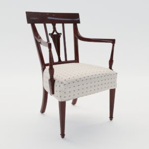 3d model Armchair – England about 1900