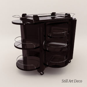 3d model Mobile Bar – Art Deco 1930