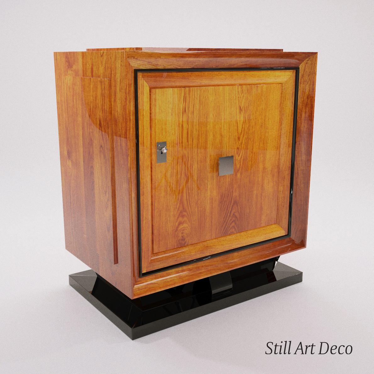 Art Deco Bar 3d Realistic Model Artium3d