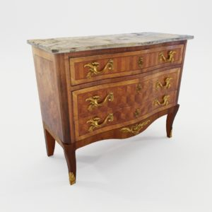 3d model Transition style commode – France about 1900