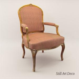 3d model Baroque armchair – around 1900