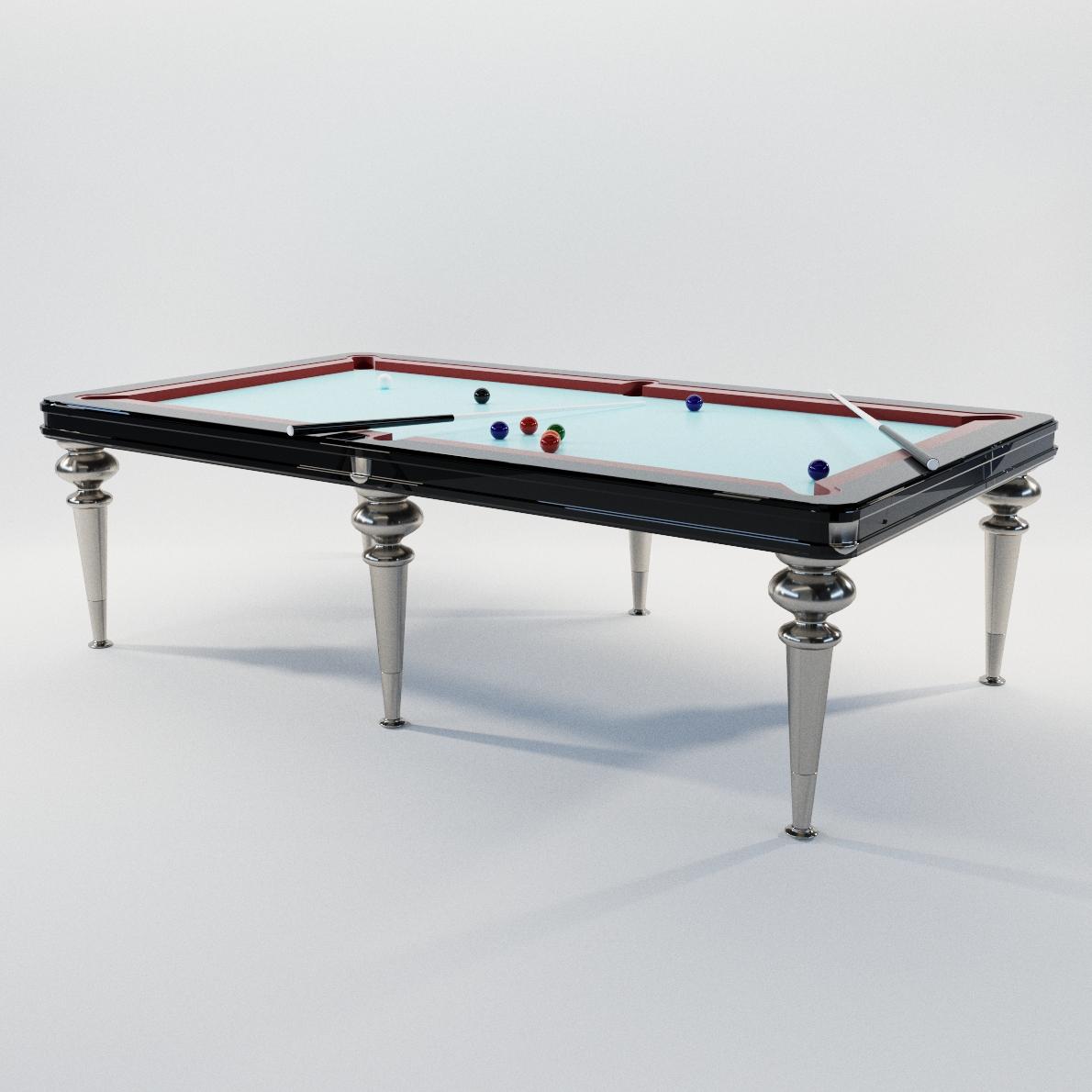 Billiard Table Bill 3D Realistic Model Artium3D
