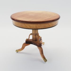 3d model Biedermeier salon table – North Germany 1825