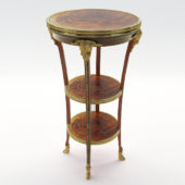 3d model Neoclassical salon etagere – France about 1900