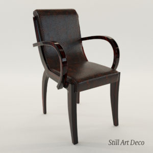 3d model armchair – Art Deco 1920