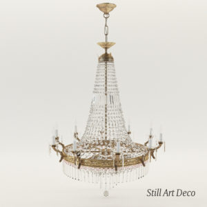 3d model Crystal chandelier – Classicist style around 1930, 10 arms