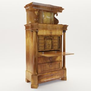 3d model Biedermeier secretaire – Germany about 1820