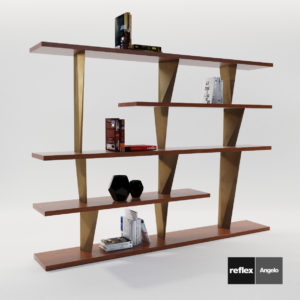 3d model Modular bookcase Prisma Liberia from Reflex Angelo – Design by Riccardo Lucatello