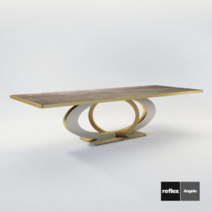 3d model Dining table Galassia 72 from Reflex Angelo – Design by Studio Vigano