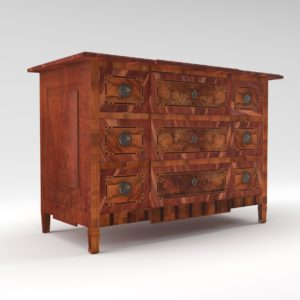 3d Model Classicistic Commode - Luis XVI, Germany, Late 18. Century