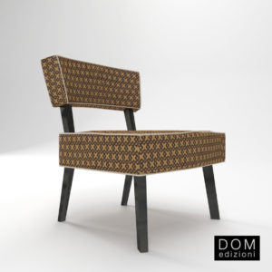 3d Model Small Armchair Nicole From Dom Edizioni - Design By Domenico Mula