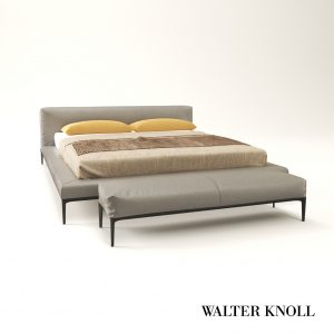 3d Model Bed Jaan From Walter Knoll - Design By EOOS