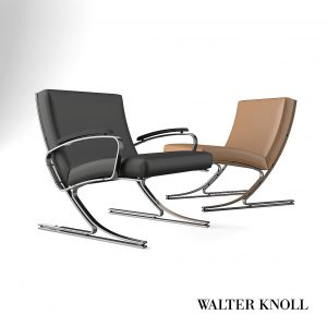 3d Model Chair - Armchair Berlin From Walter Knoll - Design By Meinhard Von Gerkan