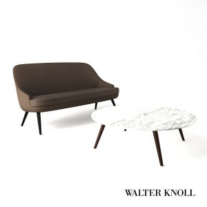 3d Model Sofa And Coach Table From Walter Knoll - Design By WK Team