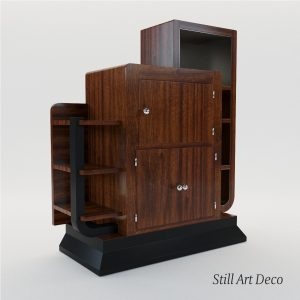 3d Model Bar Etagere – Art Deco 1930, France