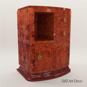 3d Model Bedside Table – Art Deco 1920