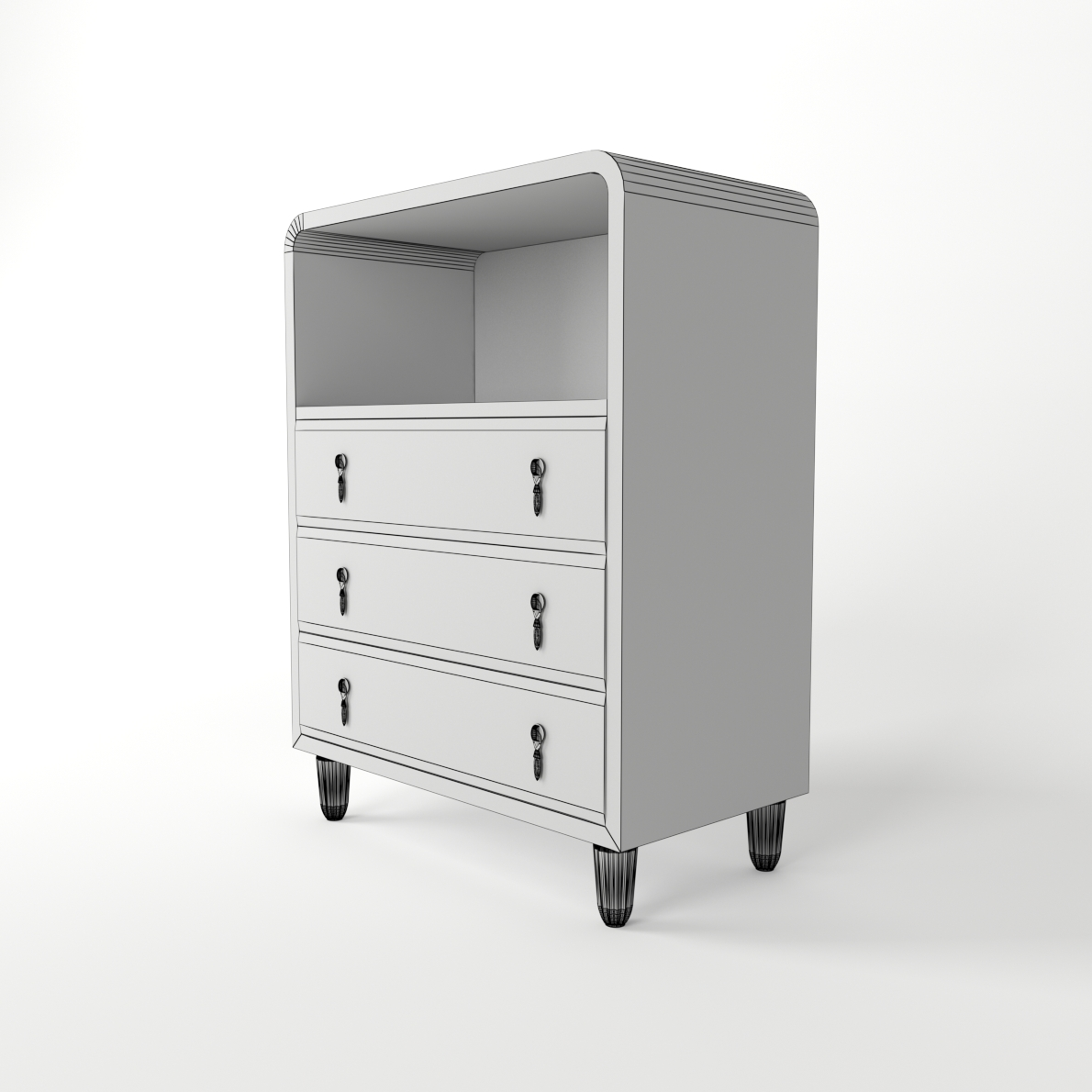 Art Deco Commode 3d Realistic Model Artium3d