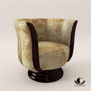 3d Model Rotaring Fauteuil - Art Deco Style - Design From Cygal Art Deco